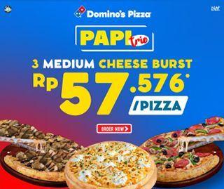 Paket Pizza Trio Cheeseburst
