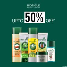 Biotique- With Upto 50% Off Deal, Get Great Savings On Your Herbal Skincare Favourites