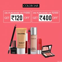Colorbar- Steal The Deal: On Purchase Of Rs.1000, Get Rs.120 Off & On Purchase Of Rs.2500, Get Rs.400 Off