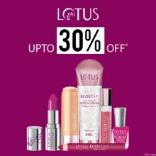 """Lotus- Treat Yourself With The Grand Blowout Offer 'upto 30% Off"""" On Lotus Essentials"""