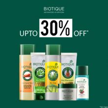 Biotique- With Upto 30% Off Deal, Get Great Savings On Your Herbal Skincare Favourites