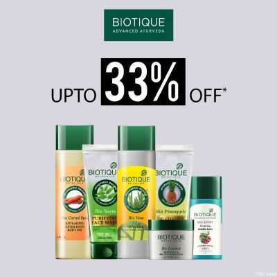 Biotique- Amp Up Your Skincare Routine With An Irreristible Deal Of 'upto 33% Off' On Biotique Essentials