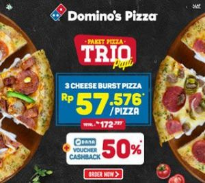 Paket Pizza Trio Cheeseburst